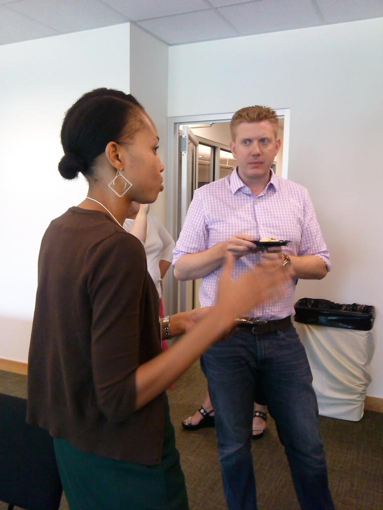 Ringling curator of modern and contemporary art Matthew McLendon speaks with MEX doctoral student Aja Roche, director of the Tanner Gallery at FAMU.