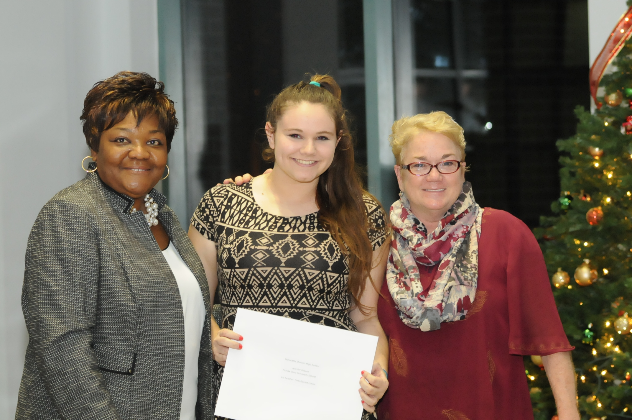 FSUS Art Teacher Debi Barrett-Hayes (far right), along with Jennifer Gibson and and Dr. Gayle from Leon County Schools