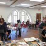 A picture of the activities conducted at the Art Journal Workshop
