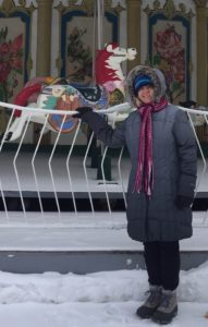 Dr. Parker-Bell in Tomsk, Russia where the temperature was -17F. With windchill factored in it was -27F.