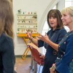 Second Lady Karen Pence (left) tours the FSU art therapy program with First Lady of Florida Ann Scott (right) at the launch of her new initiative, Art Therapy: Healing with the HeART on Wednesday, Oct. 18, at Florida State University. (FSU Photography Services)