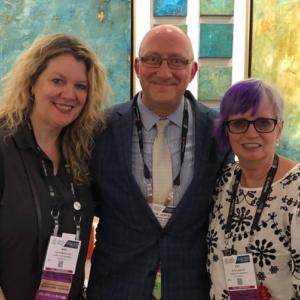 Dr. Ann Rowson Love, W. James Burns, and Dr. Pat Villeneuve